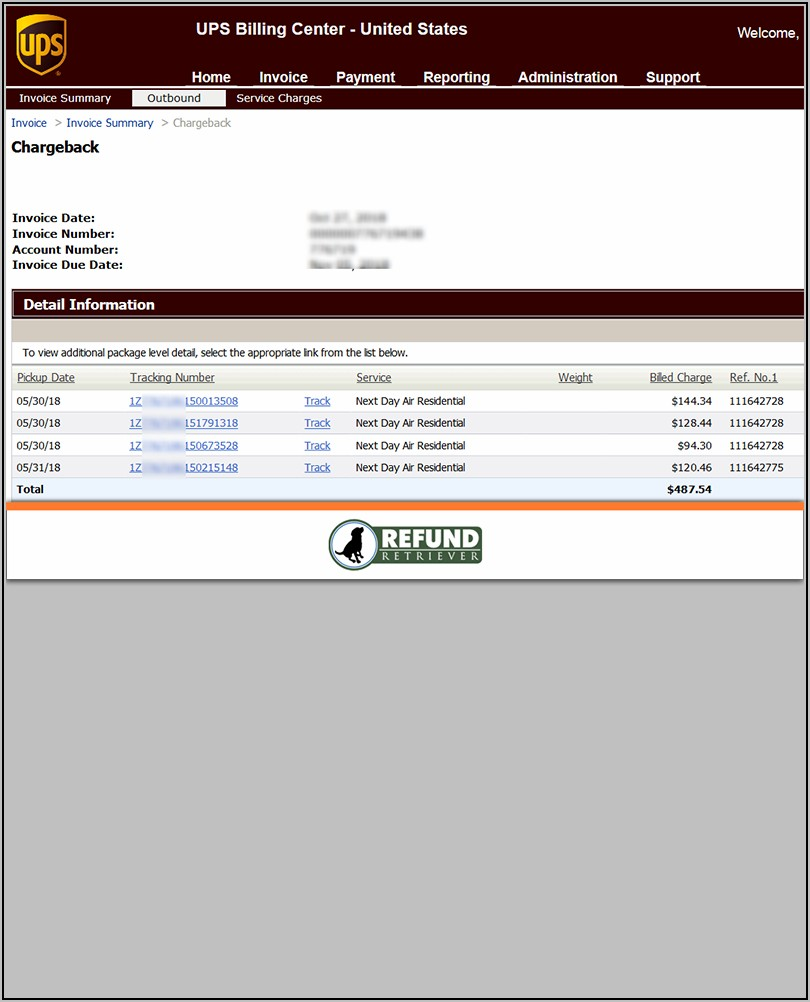 Ups Invoice Number Tracking
