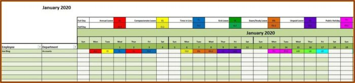Vacation Tracker Excel Template 2021