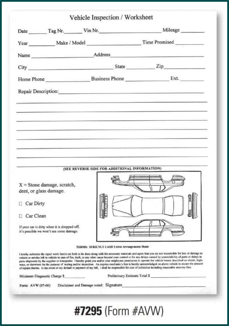 Vehicle Inspection Report Template Download