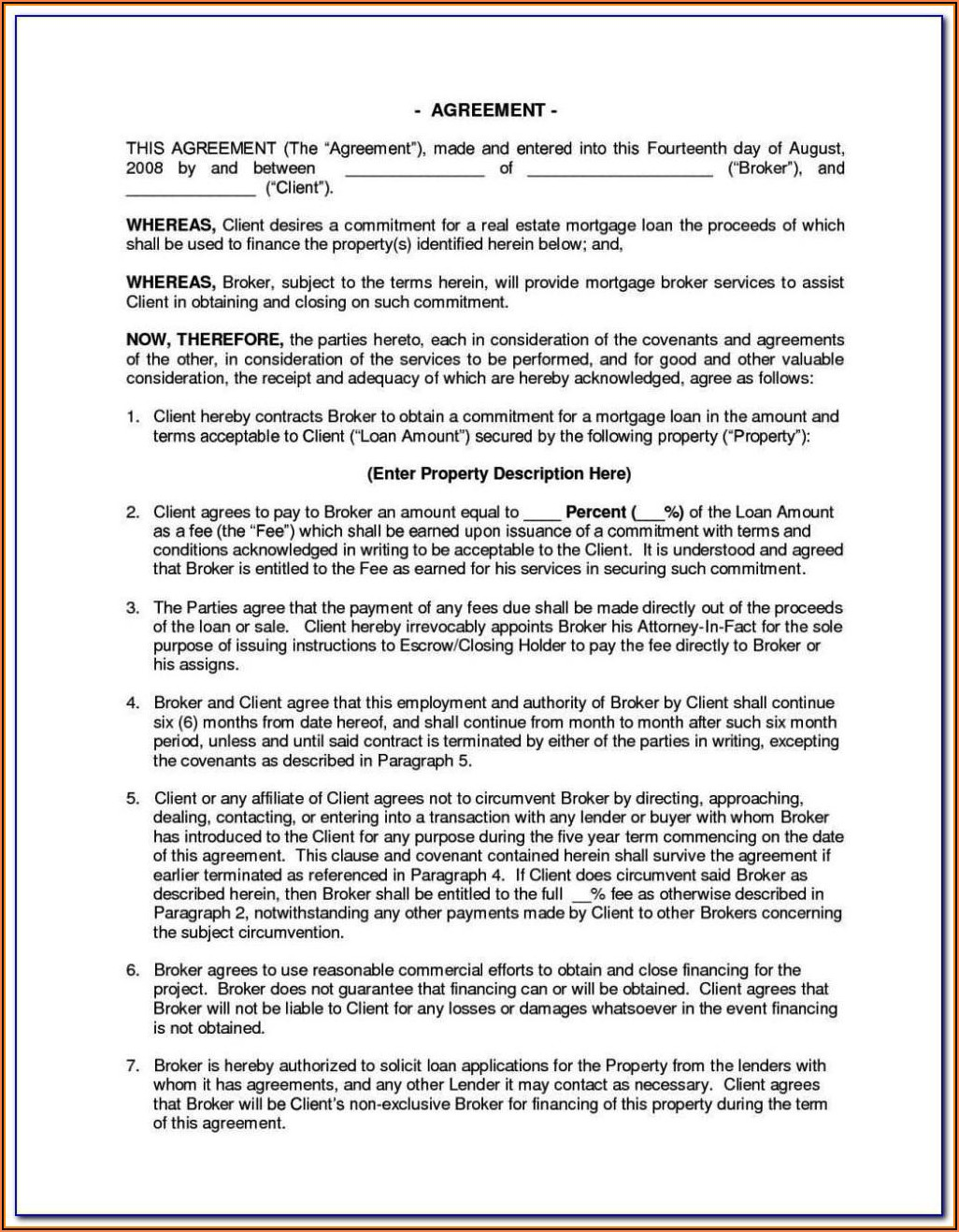Vehicle Owner Finance Contract Template