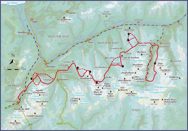 Walkers Haute Route Google Maps