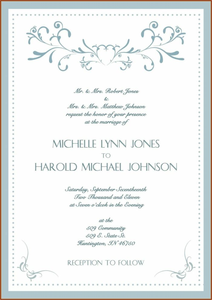 Wedding Anniversary Invitation Card Templates