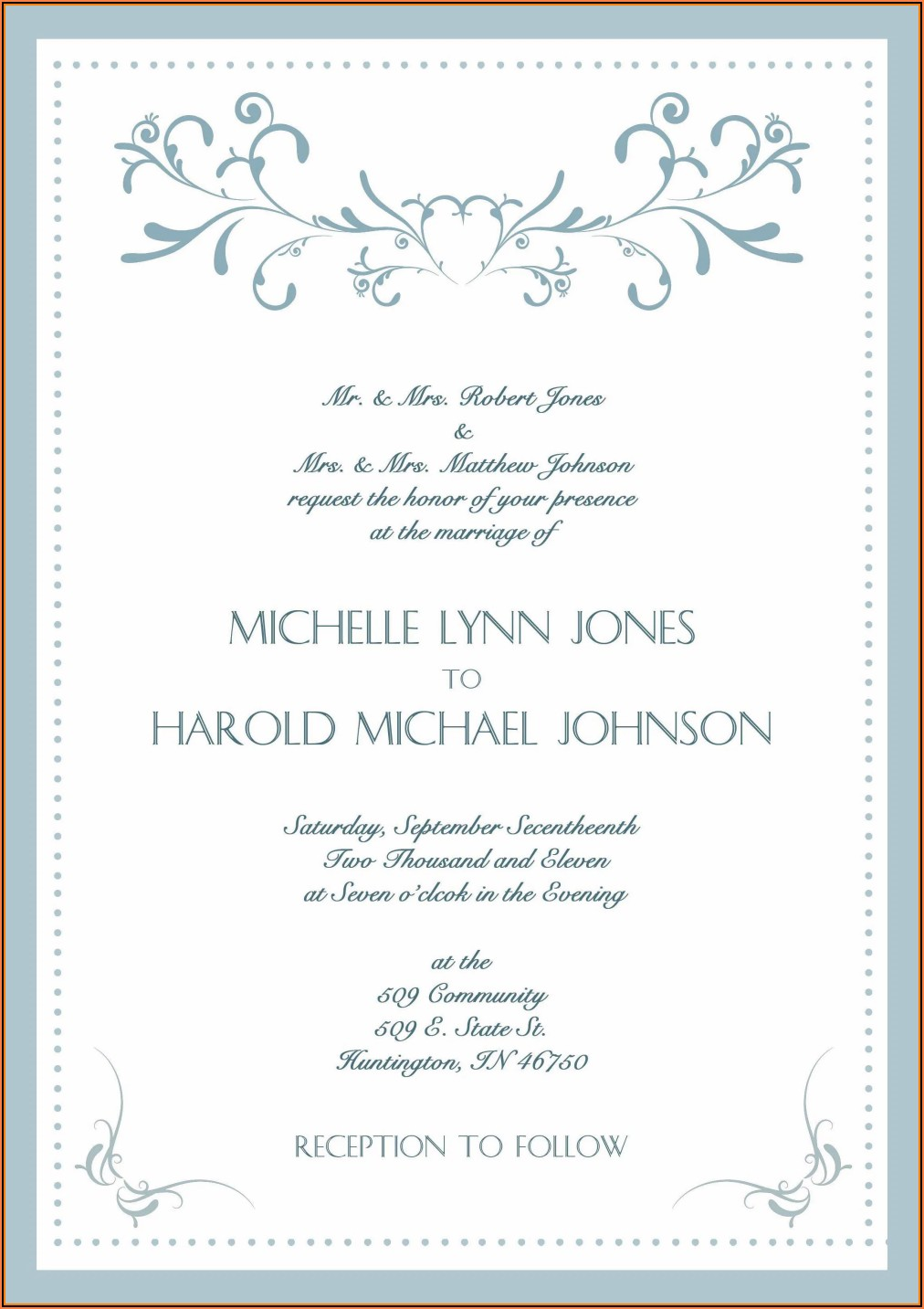 Wedding Anniversary Invitation Card Templates