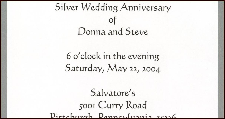 Wedding Anniversary Invitation Format