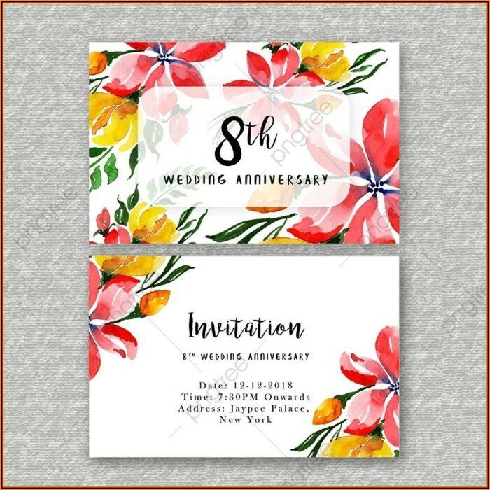 Wedding Anniversary Invitation Template