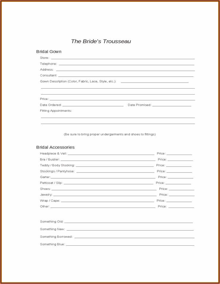 Wedding Coordinator Checklist Template