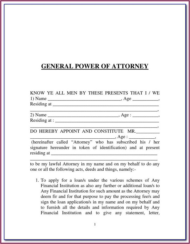 Wills And Power Of Attorney Forms