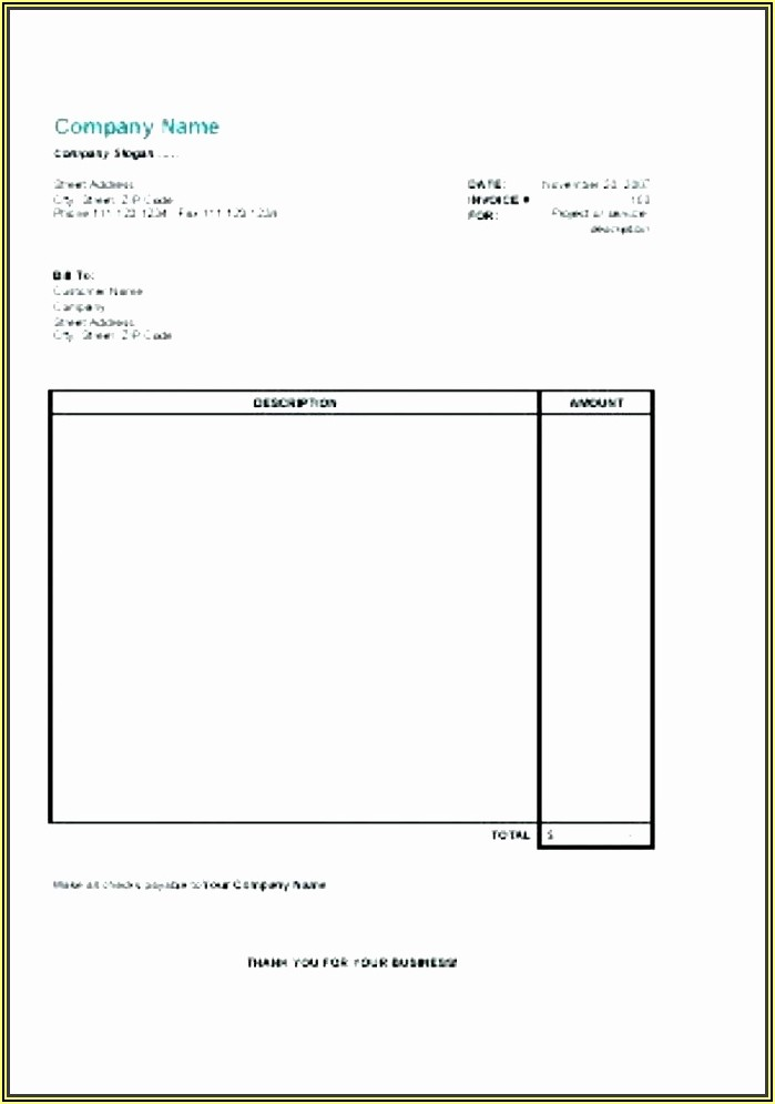 Window Tint Invoice Template