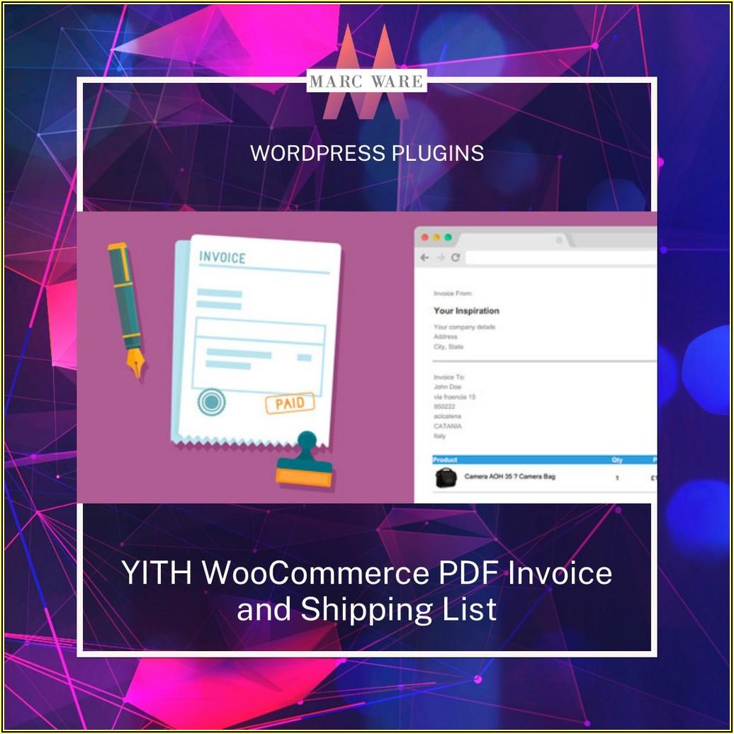 Woocommerce Pdf Invoice Plugin