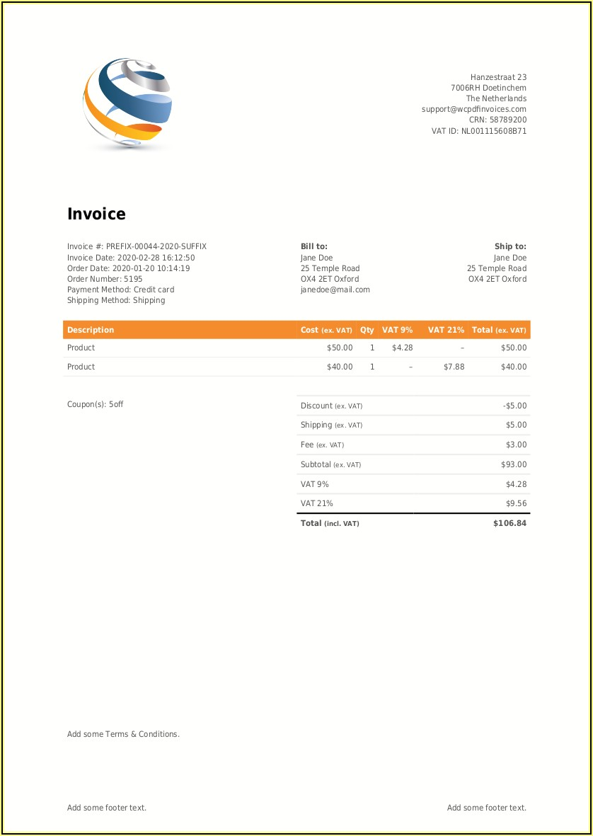 Woocommerce Pdf Invoices & Packing Slips Pro Nulled