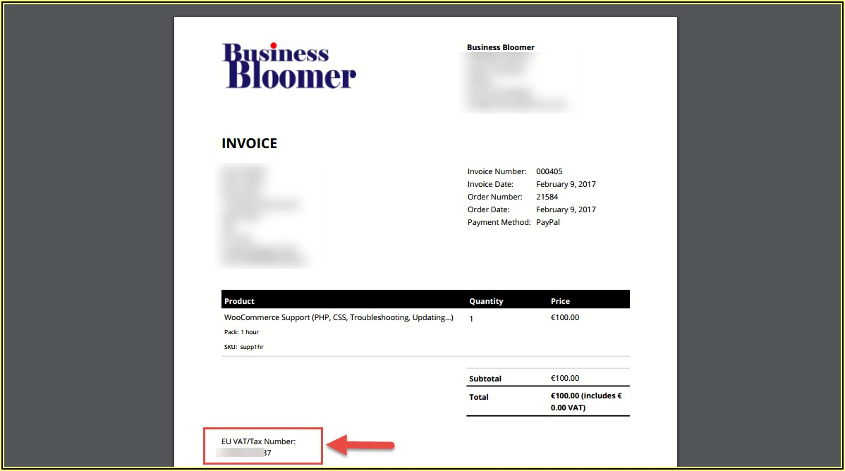 Woocommerce Pdf Invoices & Packing Slips Templates