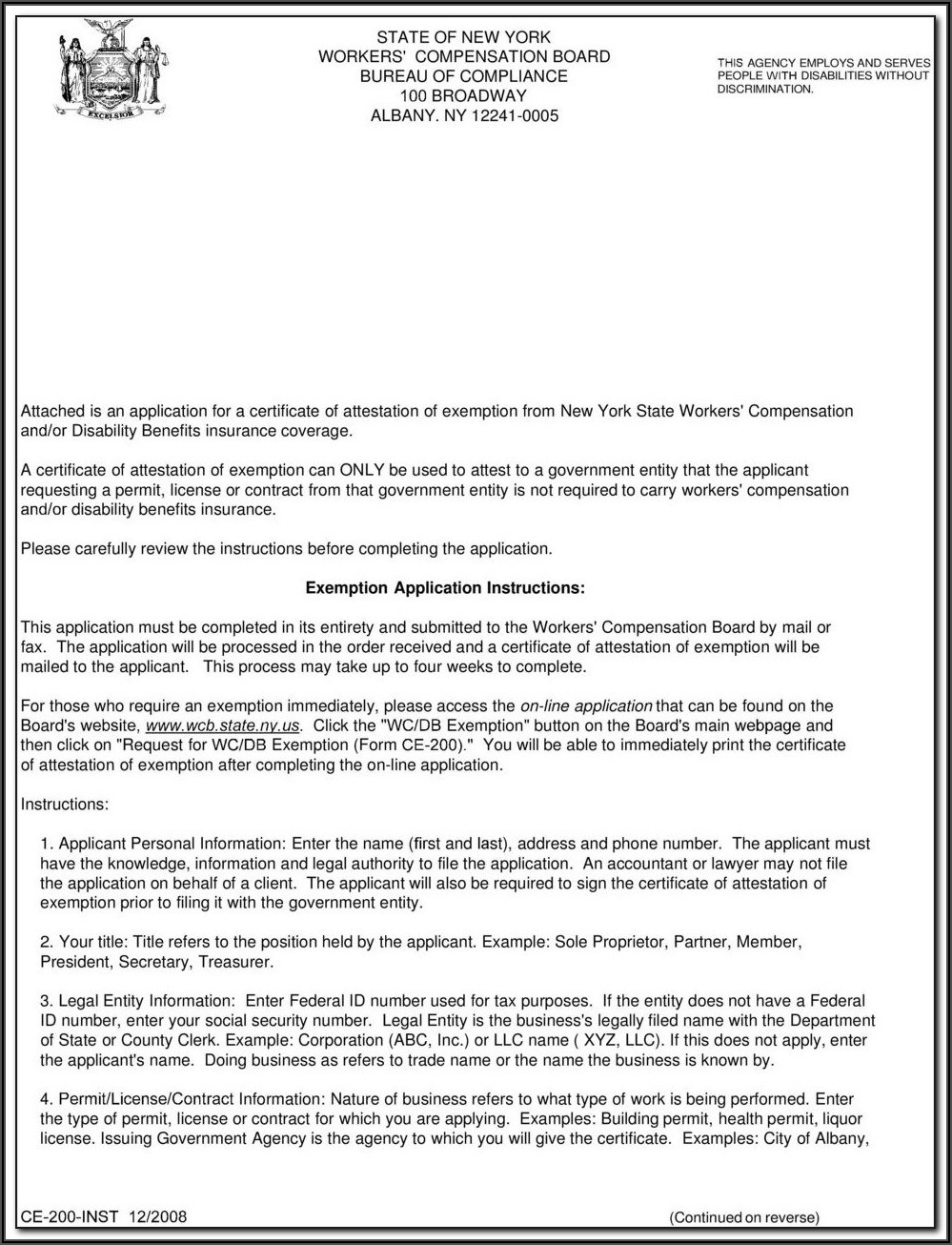 Workers Compensation Waiver Of Subrogation Endorsement Form