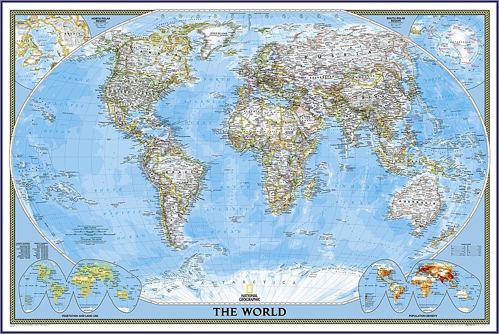 World Map Laminated Buy