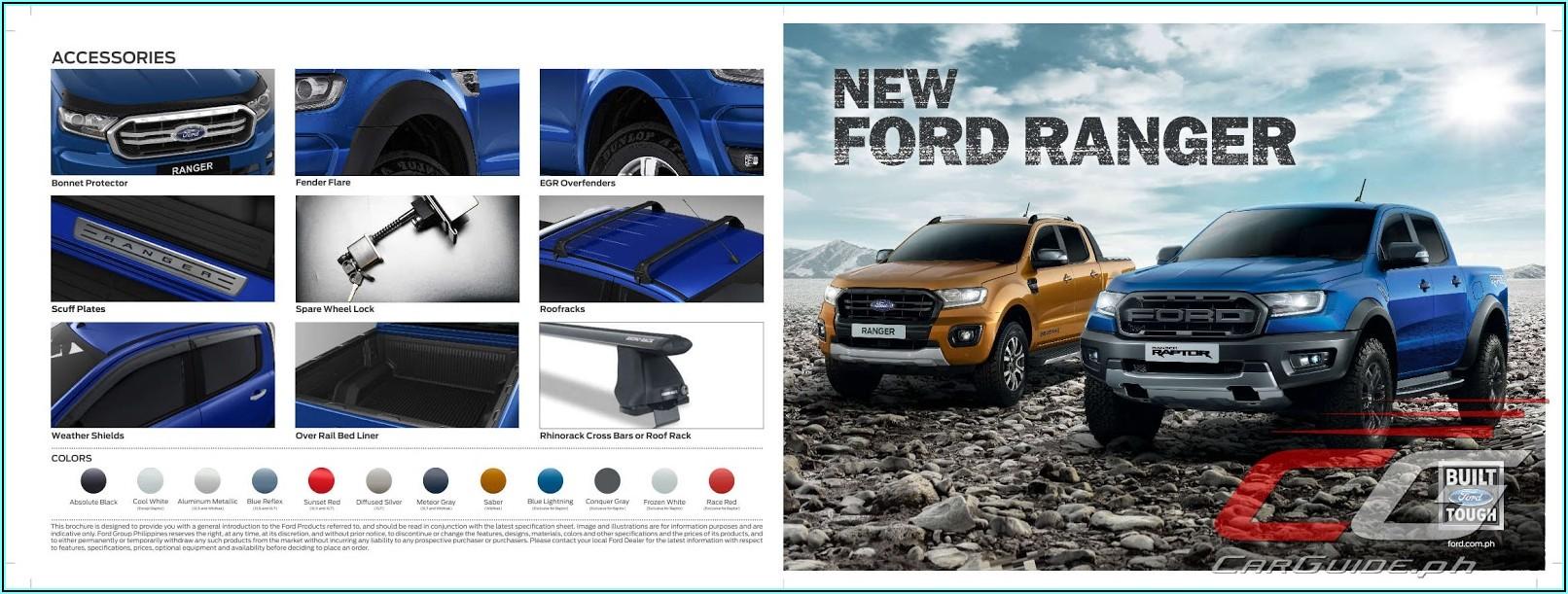 2019 Ford Ranger Brochure Pdf