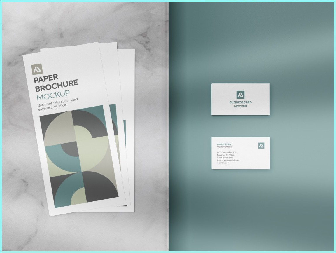 3 Fold Brochure Mockup Free Download