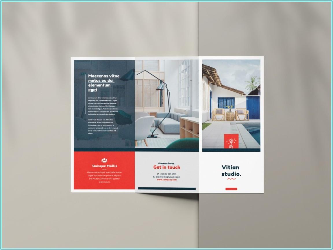 3 Fold Brochure Mockup Psd Free Download
