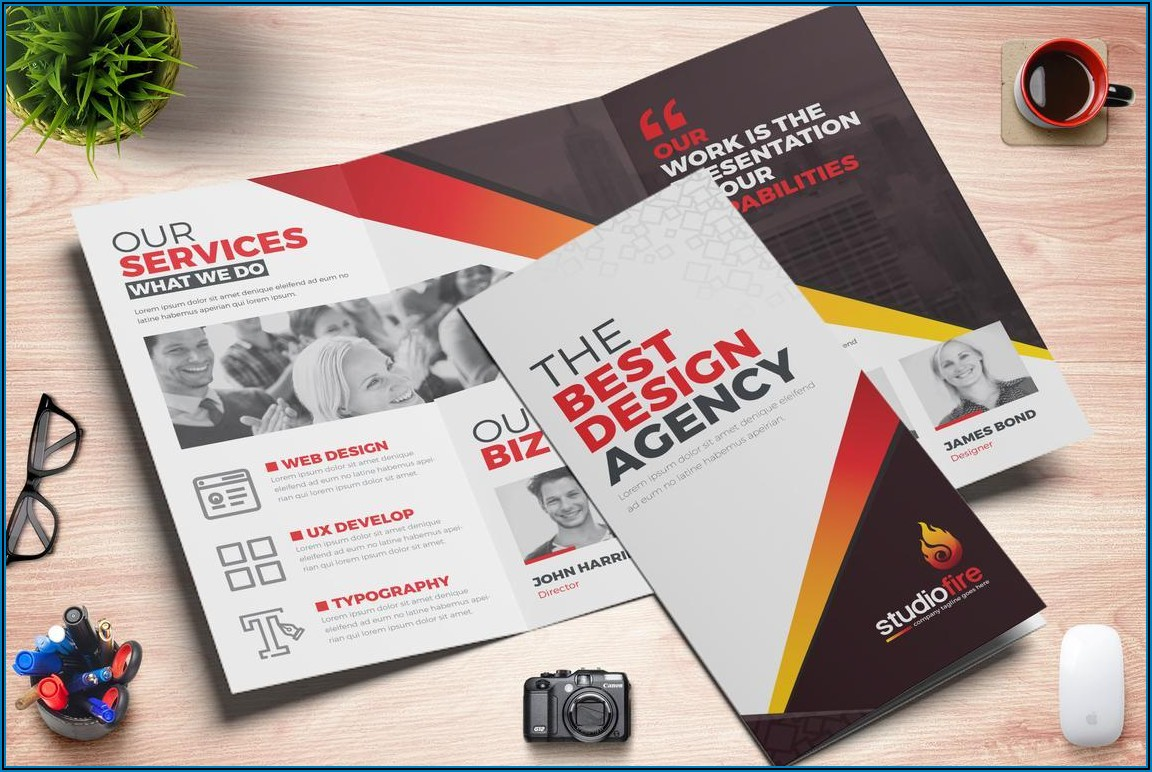 4 Fold Brochure Template Indesign