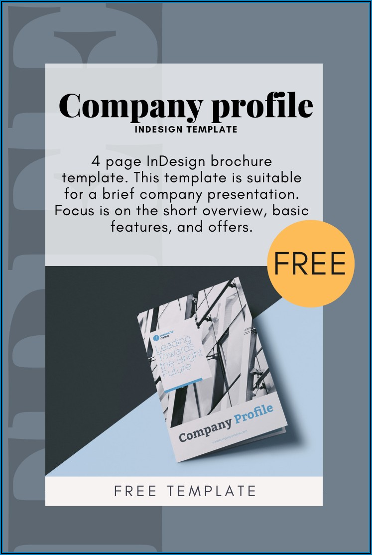 4 Page Brochure Template Indesign