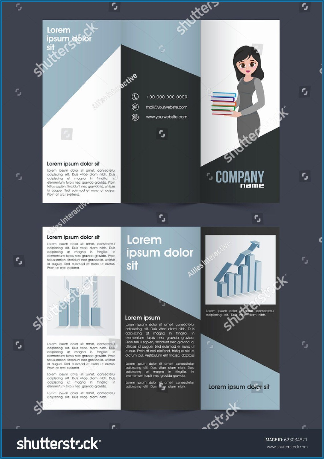 4 Pages Brochure Template