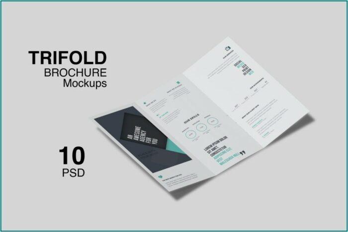 A4 Bifold Brochure Mockup Free Download