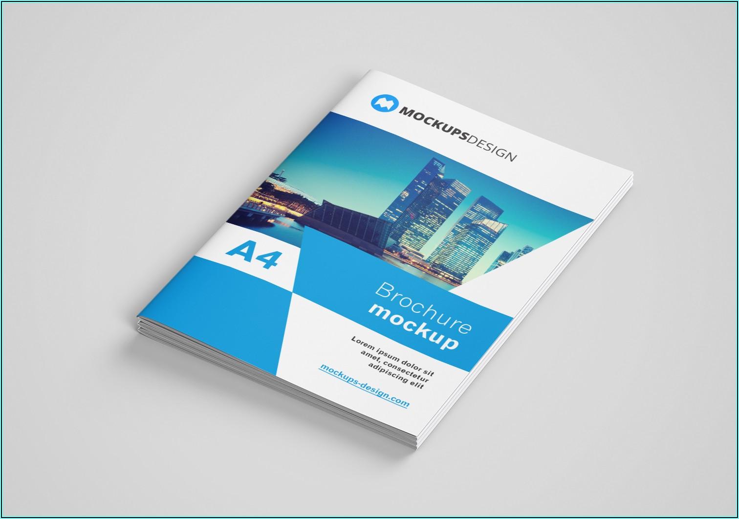 A4 Brochure Mock Up Free