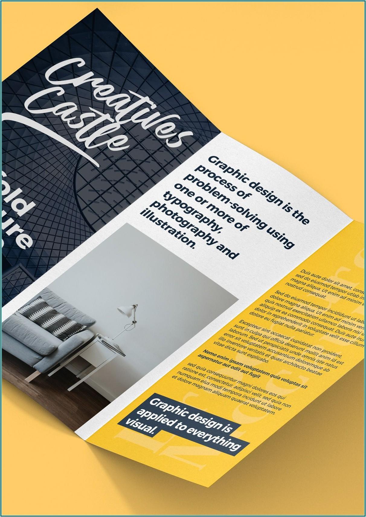 A4 Tri Fold Brochure Mockup Psd Free Download