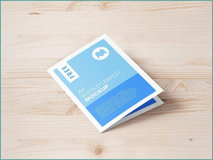 A5 Bi Fold Brochure Mockup Free Download