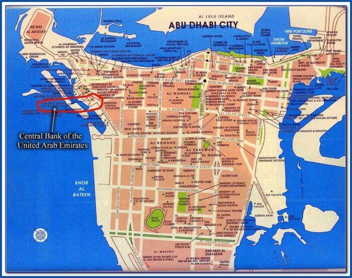 Abu Dhabi Hotels Location Map