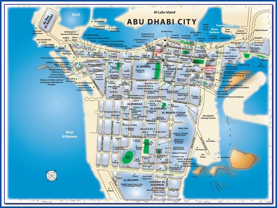 Abu Dhabi National Hotels Head Office Location Map