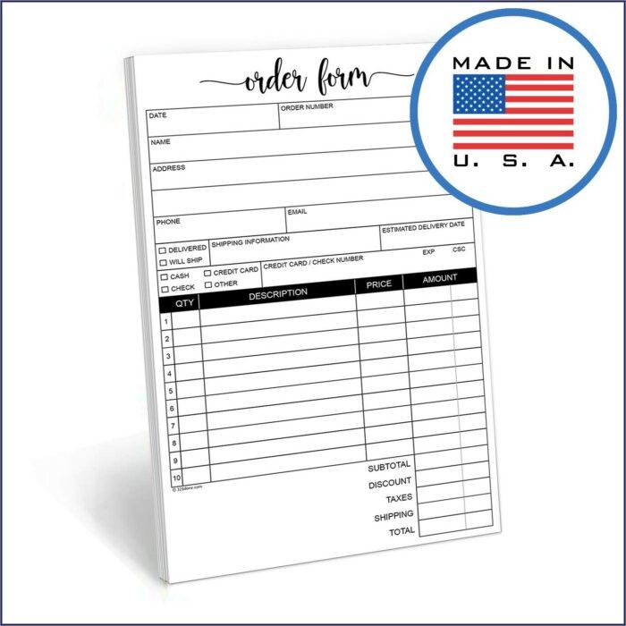 Adams Invoice Book D8140