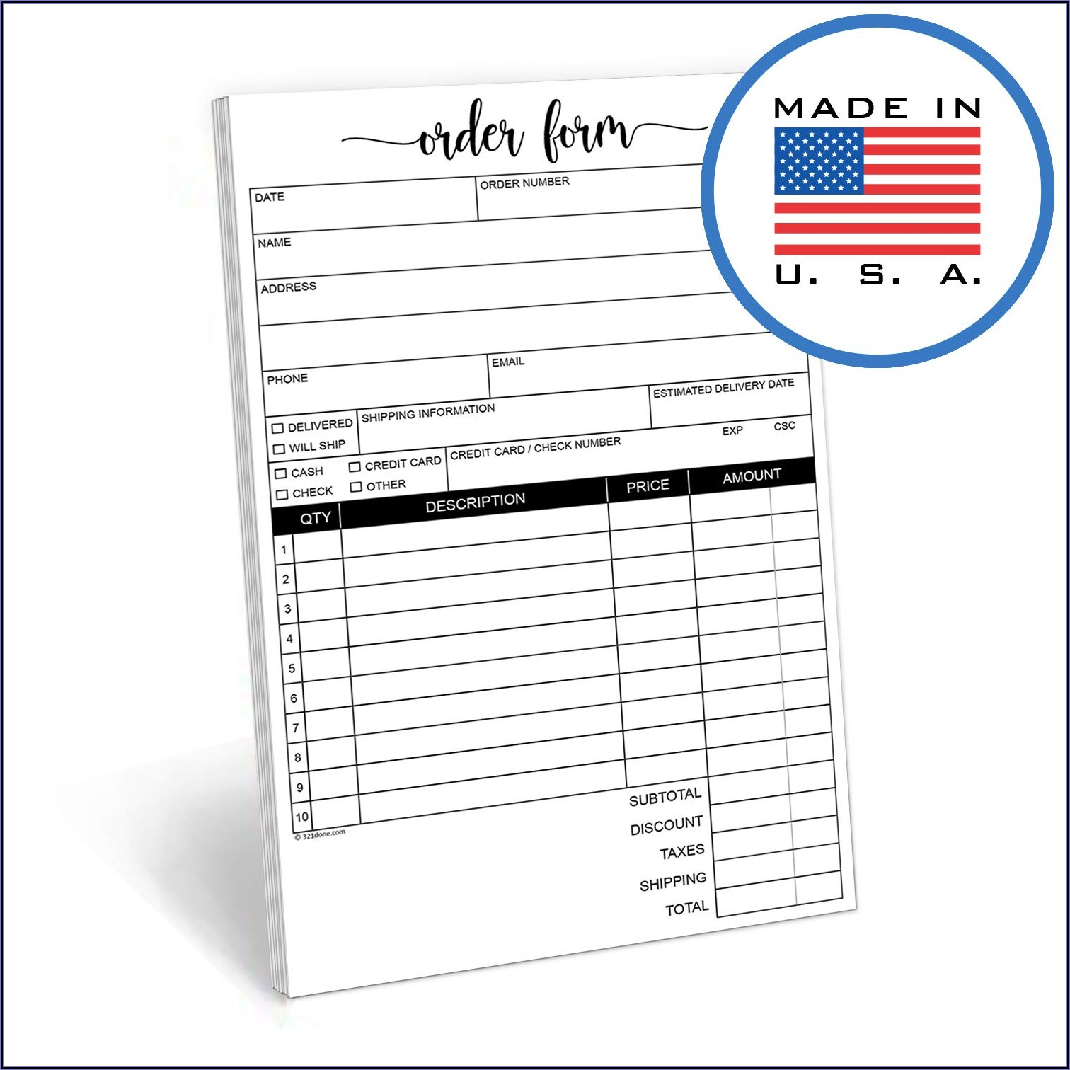 Adams Invoice Book D8140