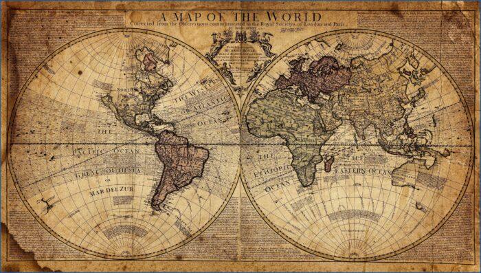Ancient Map Wallpaper