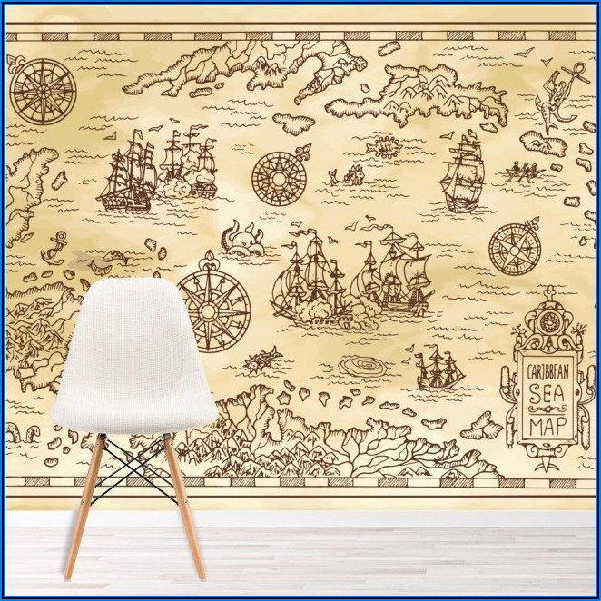 Ancient Sea Map Wallpaper