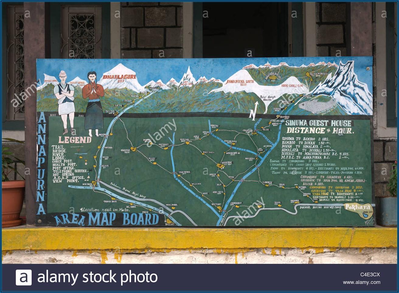 Annapurna Region Trekking Map
