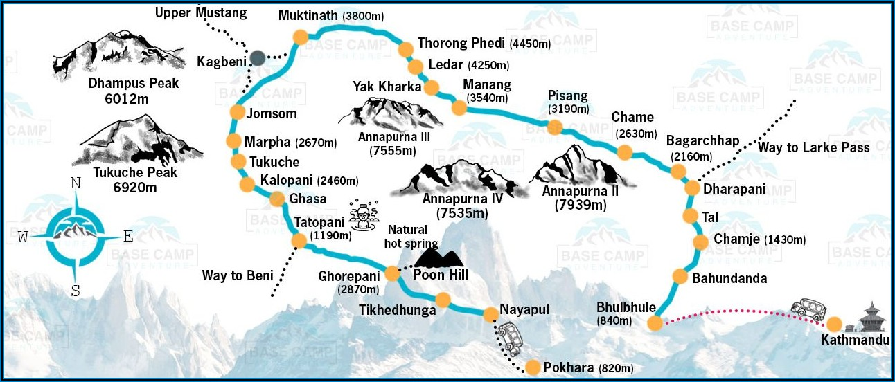 Annapurna Trek Map