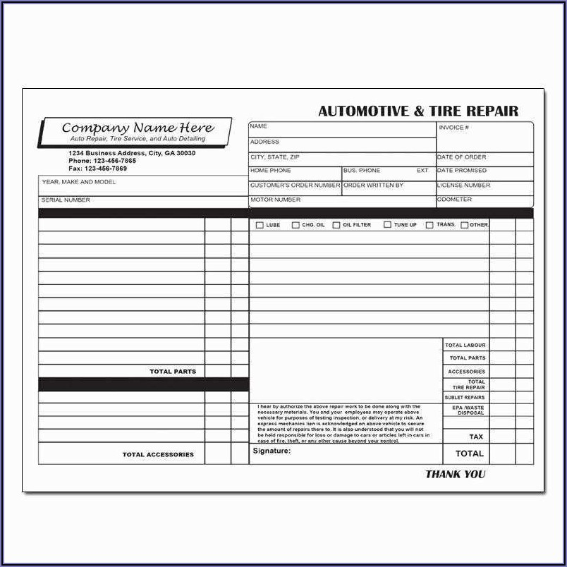 Appliance Repair Invoice Template