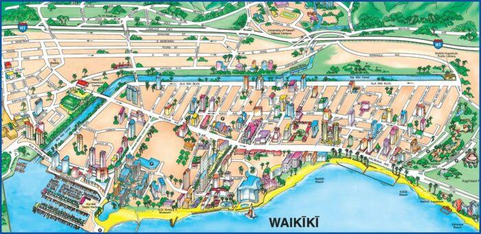 Beachfront Hotels Waikiki Map