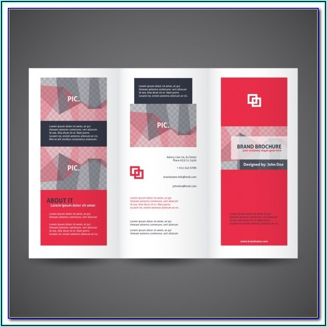 Bi Fold Brochure Template Word Free