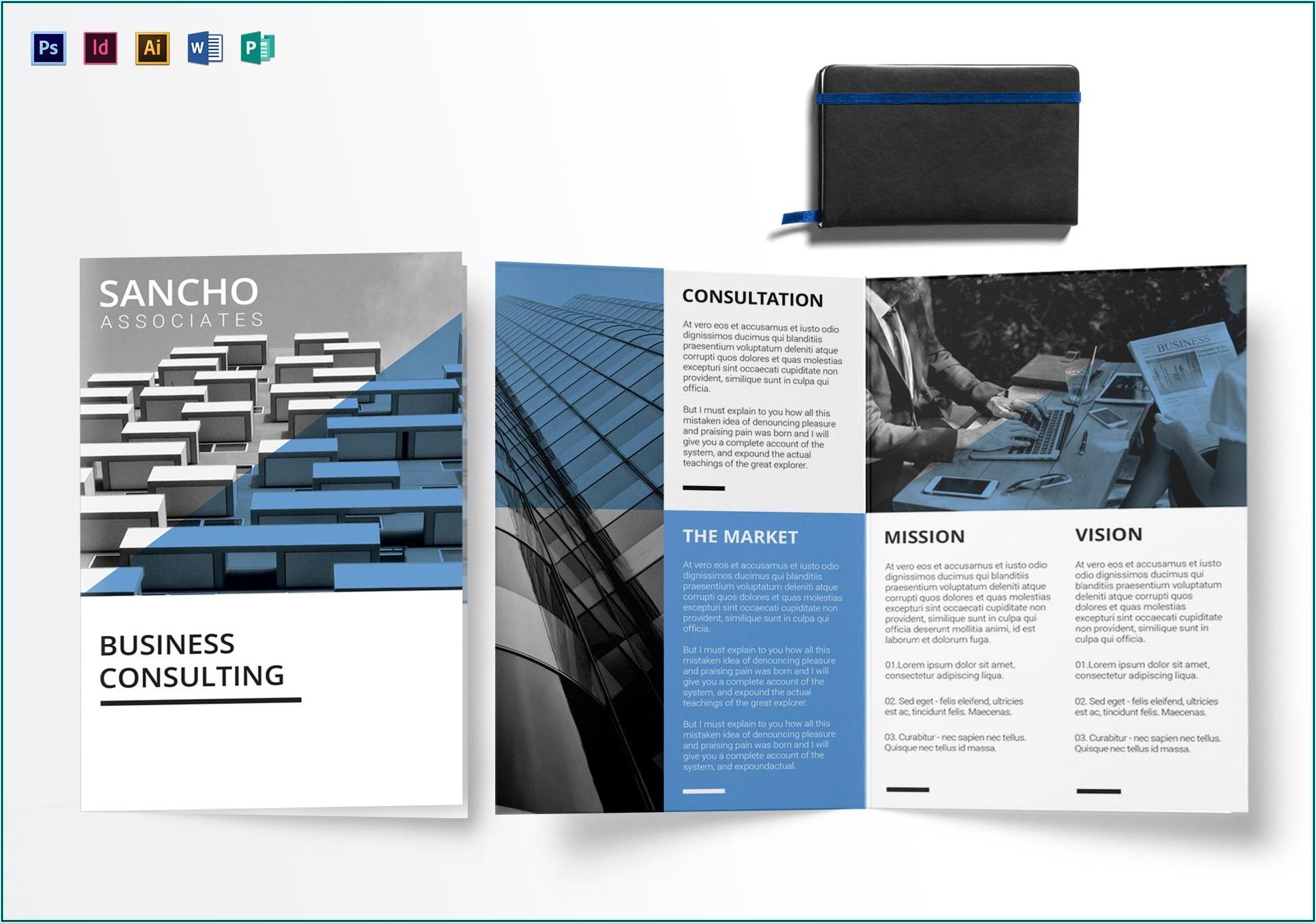 Bi Fold Brochure Template Word