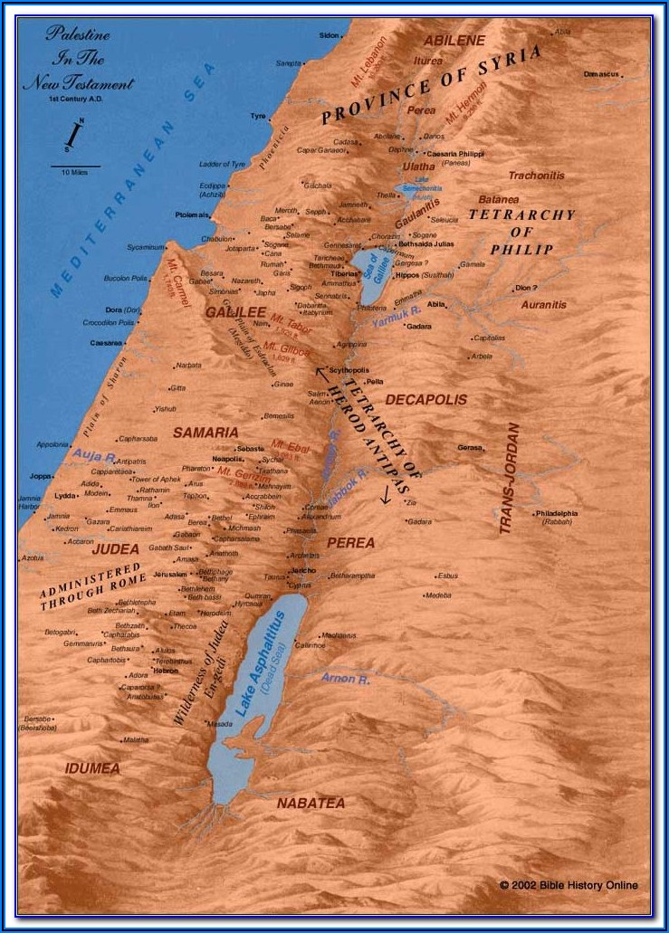 Biblical Maps New Testament
