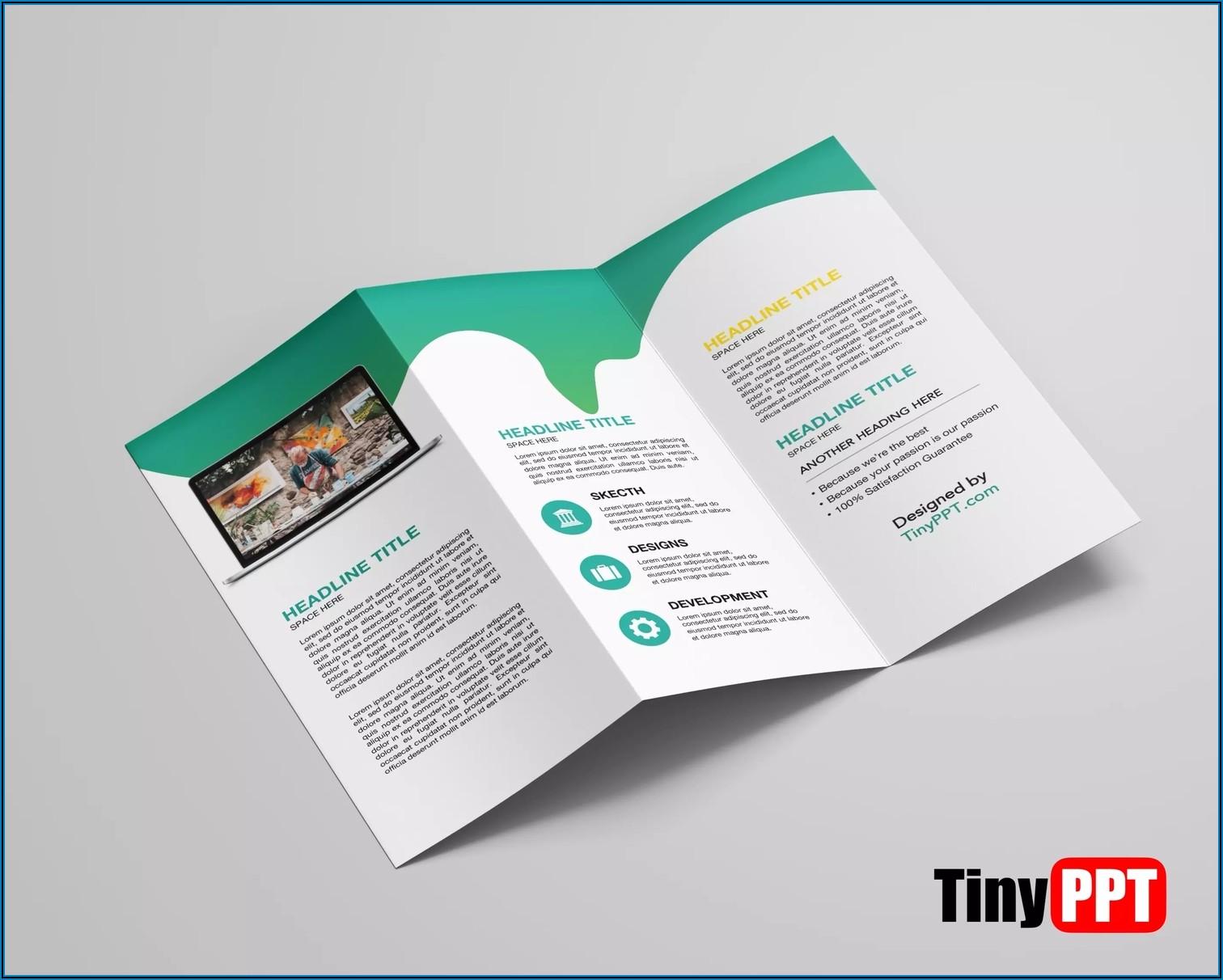 Blank Tri Fold Brochure Template For Google Slides