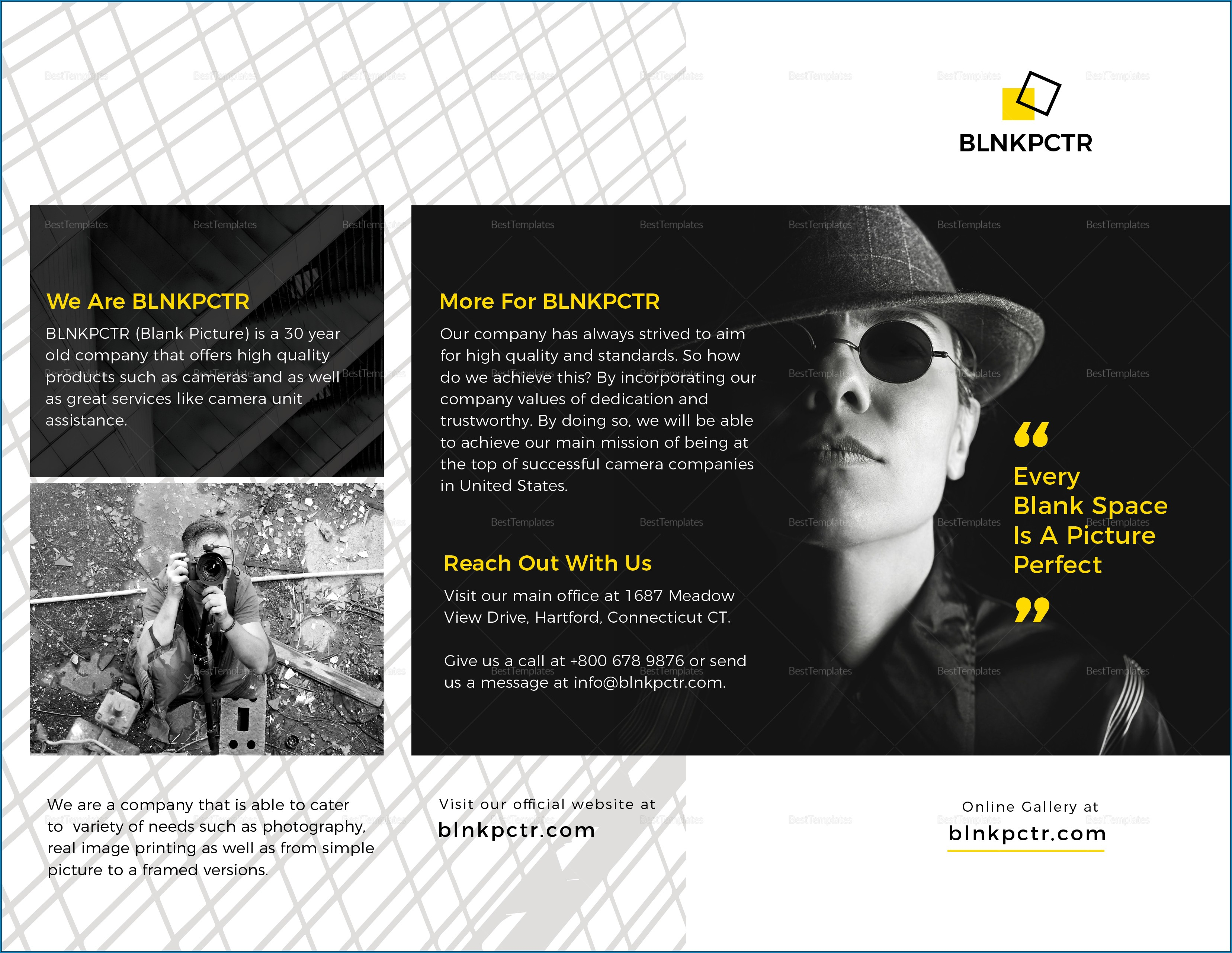 Blank Tri Fold Brochure Template Publisher