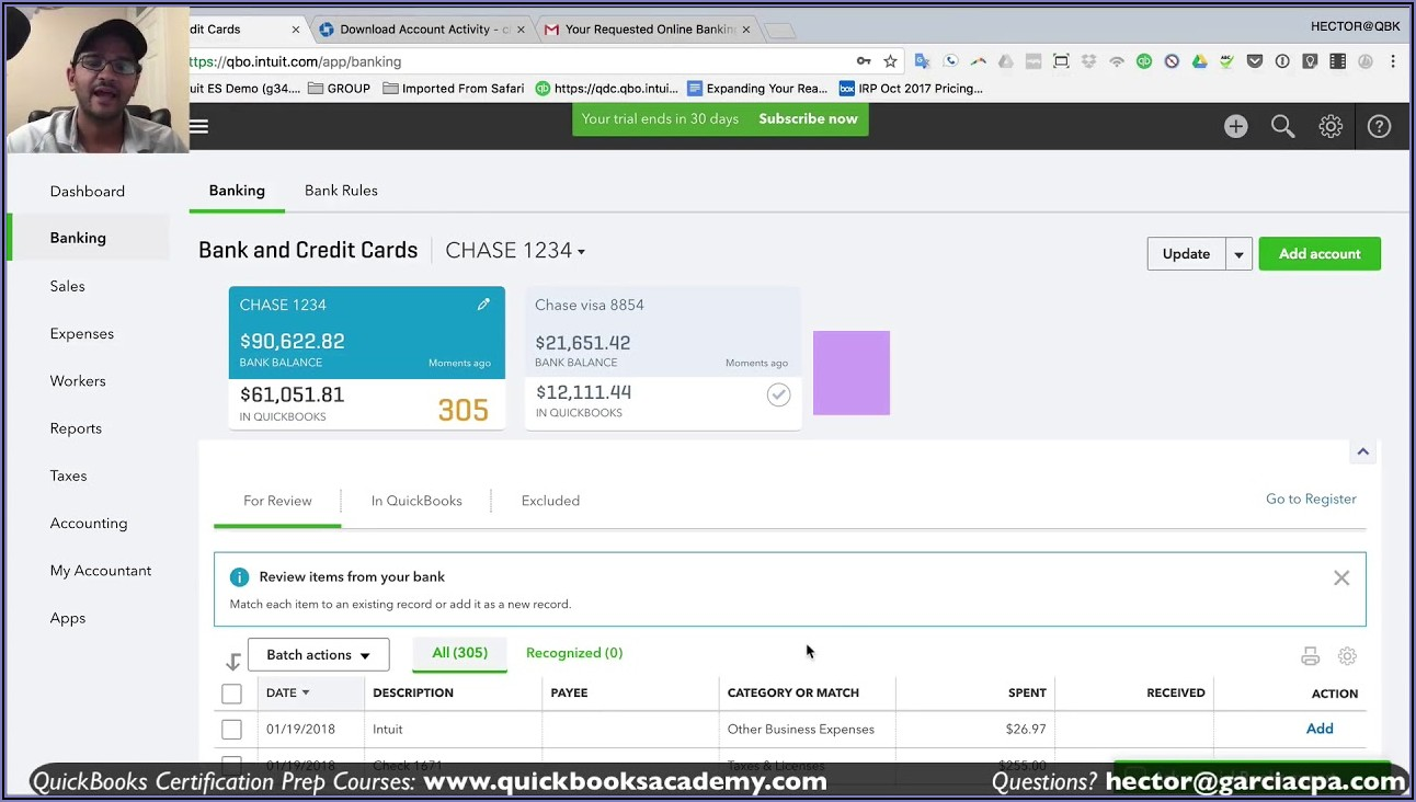 Can You Import Transactions In Quickbooks Online