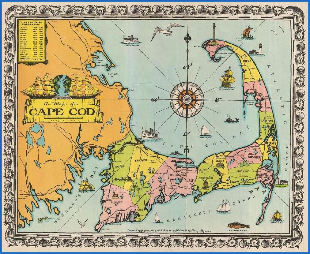 Cape Cod Map Poster