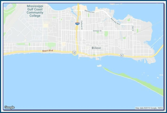 Casinos In Biloxi Map
