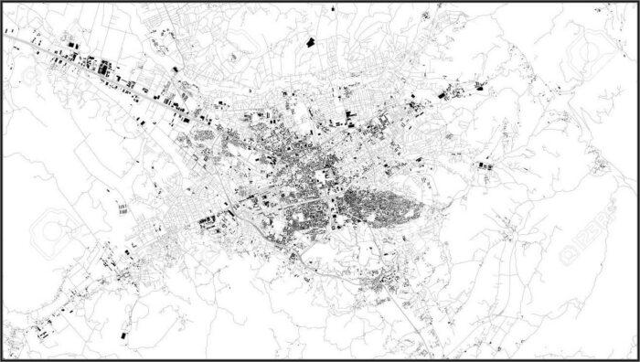 City Map Of Tirana Albania