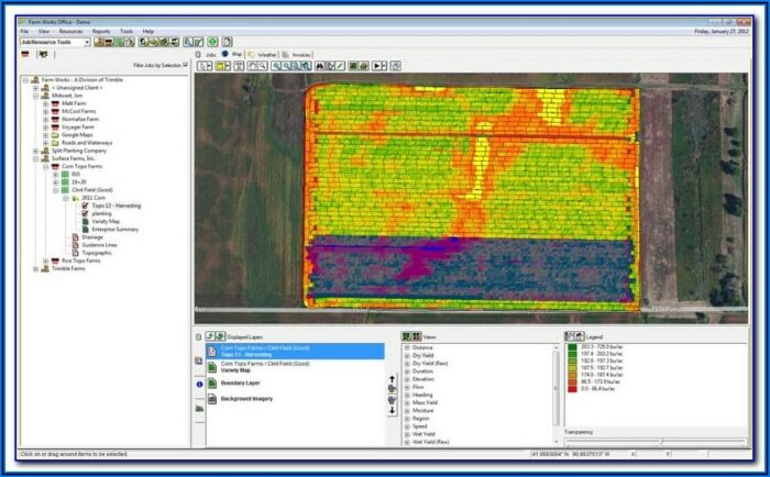 Claas Yield Mapping Software