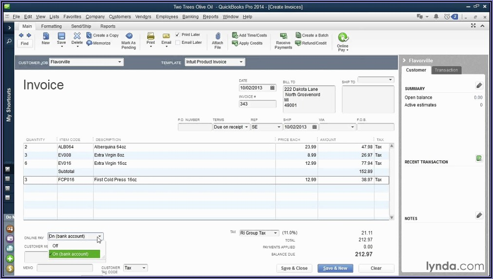 Custom Invoice Templates For Quickbooks Online