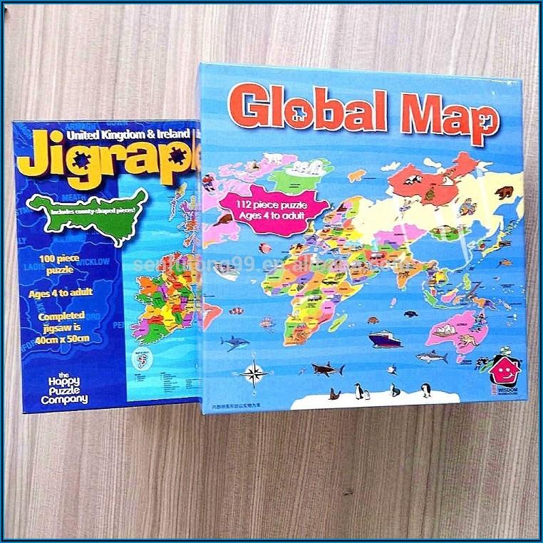 Custom Map Jigsaw Puzzles