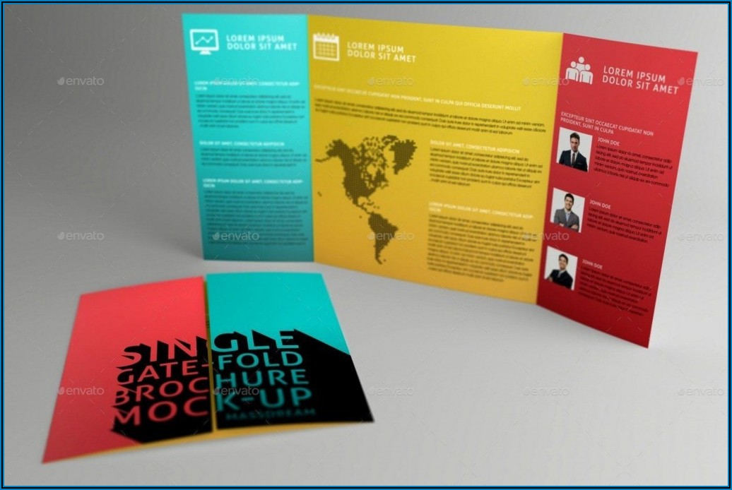 Double Gate Fold Brochure Template Indesign